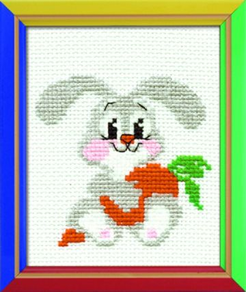 Riolis Cross Stitch Kit.LOP EARED BUNNY.